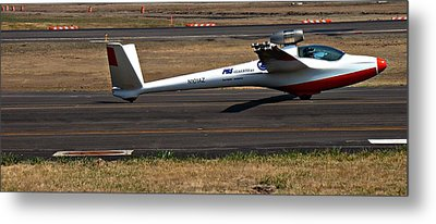 Jet Powered Glider2 Metal Print by Nick Kloepping