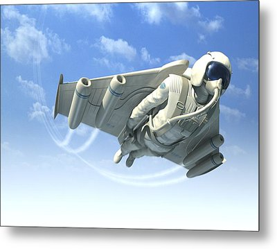 Jetman, Artwork Metal Print by Henning Dalhoff