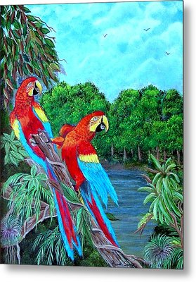 Jewels Of The Amazon Metal Print by Fram Cama