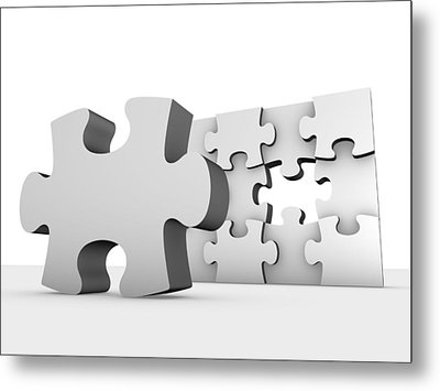 Jigsaw Puzzle, Artwork Metal Print by Pasieka