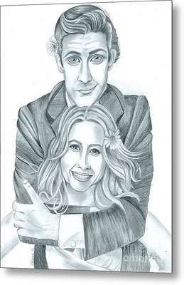 Jim And Pam Metal Print by Crystal Rosene