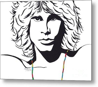 Jim Morrison Metal Print by Marty Rice