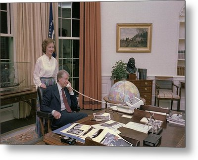 Jimmy Carter And Rosalynn Carter Metal Print by Everett