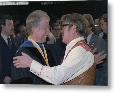 Jimmy Carter Greets His Brother Billy Metal Print
