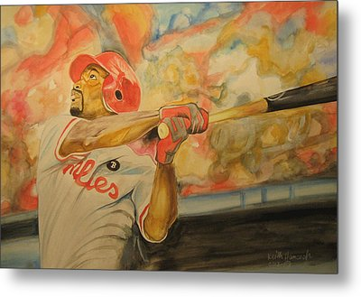 Jimmy Rollins Metal Print by Keith Hancock