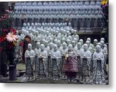 Jizo Statues At Hase-dera Temple Metal Print by Ei Katsumata