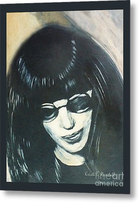Joey Ramone The Ramones Portrait Metal Print by Kristi L Randall