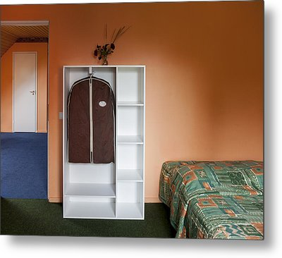 Jogeva County A Bedroom With Ochre Metal Print by Jaak Nilson