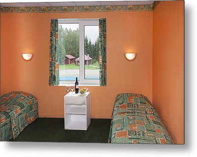 Jogeva County A Bedroom With Two Beds Metal Print