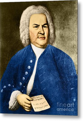 Johann Sebastian Bach, German Baroque Metal Print by Photo Researchers