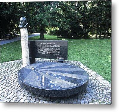 Johannes Kepler Monument, Austria Metal Print by Martin Bond