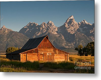 John And Bartha Moulton Barn Metal Print by Stuart Wilson and Photo Researchers