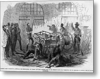 John Brown And Others Inside The Engine Metal Print by Everett