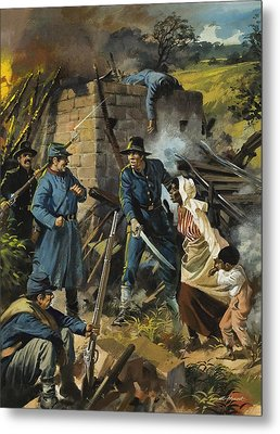 John Brown On 30 August 1856 Intercepting A Body Of Pro-slavery Men Metal Print by Andrew Howart