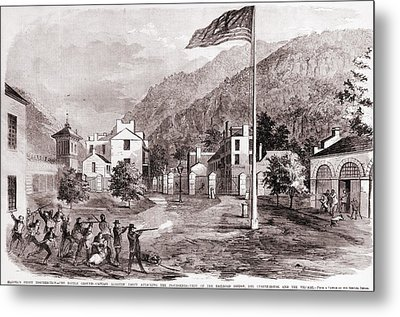 John Browns Harpers Ferry Insurrection Metal Print by Everett