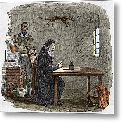 John Dee And Edward Kelly Metal Print by Sheila Terry