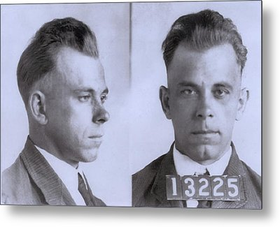 John Dillinger 1903-1934, In Mugshot Metal Print