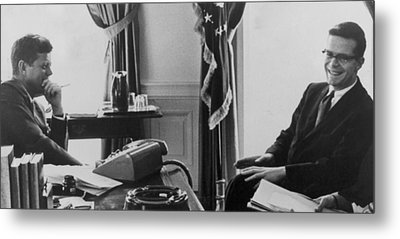 John F. Kennedy 1917-1963 And Theodore Metal Print by Everett