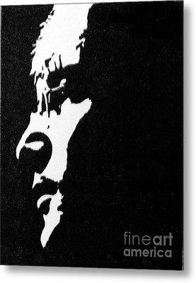 John Lennon Hi Contrast Metal Print by Kenneth Regan