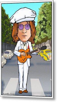 John Lennon Metal Print by John Goldacker