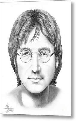 John Lennon Metal Print by Murphy Elliott