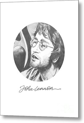 John Lennon Metal Print by Deer Devil Designs