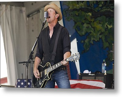 John Thomas Griffith Of Cowboy Mouth Metal Print by Terry Finegan