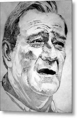 John Wayne - Large Metal Print by Robert Lance