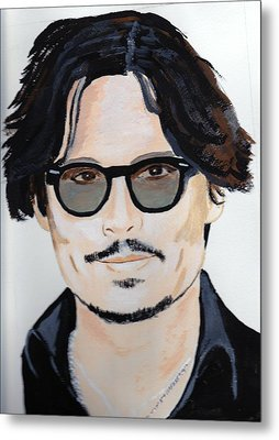 Johnny Depp 4 Metal Print