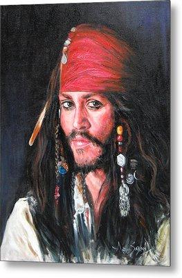 Johnny Depp Metal Print by Anju Saran
