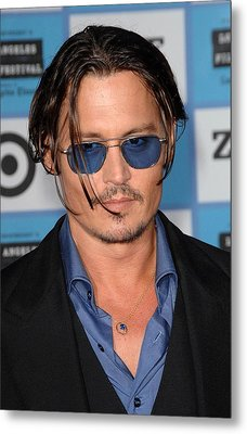 Johnny Depp At Arrivals For 2009 Los Metal Print by Everett