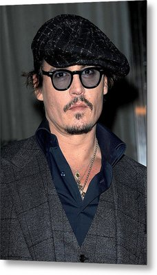 Johnny Depp At Arrivals For Playboy Metal Print by Everett