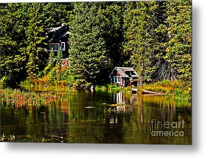Johnny Sack Cabin II Metal Print by Robert Bales