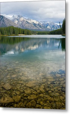 Johnson Lake Rocks Metal Print by Adam Pender
