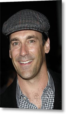 Jon Hamm At Arrivals For Get Him To The Metal Print by Everett