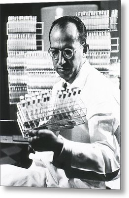 Jonas E. Salk 1914-1995, American Metal Print by Everett