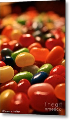 Jubilant Jelly Beans Metal Print by Susan Herber