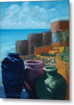 Juju Jars - Cancun Metal Print by Lorraine McFarland