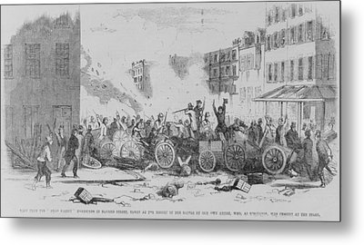 July 4 1857 Battle On Bayard Street Metal Print by Everett
