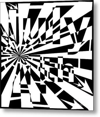July 4th Maze Metal Print by Yonatan Frimer Maze Artist