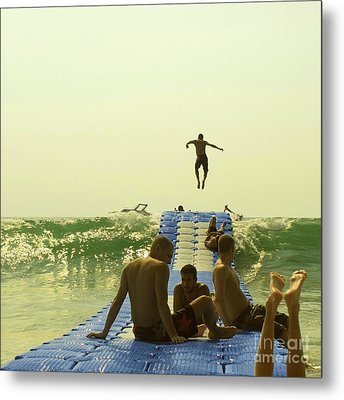 Jump Metal Print by Paul Grand