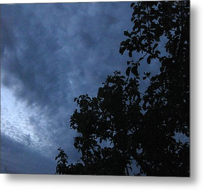 June Apple Trees In The Clouds Metal Print by Charles Dancik