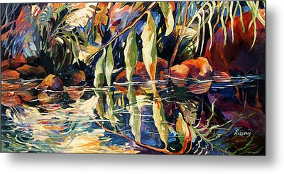 Jungle Reflections Metal Print by Rae Andrews