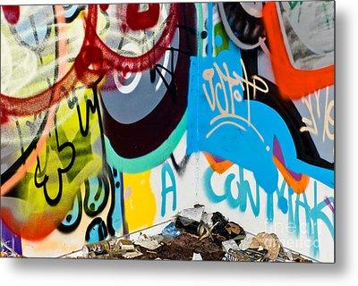 Junk Graffiti Metal Print by Yurix Sardinelly