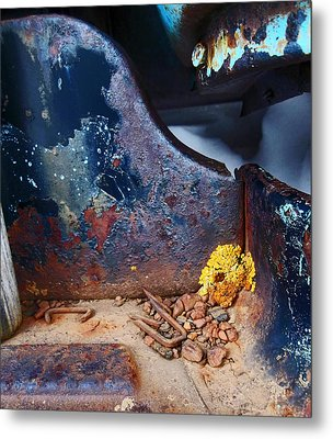 Junkyard Ford Sideboard Metal Print by Wesley Hahn