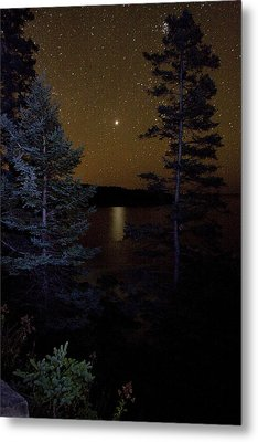 Metal Print featuring the photograph Jupiter Rising Over Otter Point by Brent L Ander