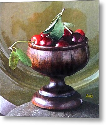 Just A Bowl Of Cherries Metal Print by Anke Wheeler