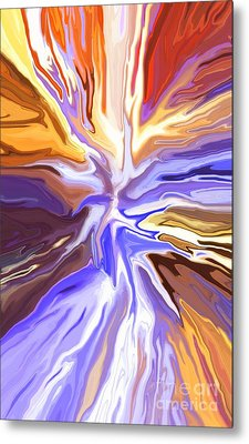 Just Abstract V Metal Print by Chris Butler