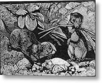 Just Cute Critters Metal Print by Robert Clement
