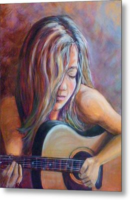 Just Strumming Metal Print